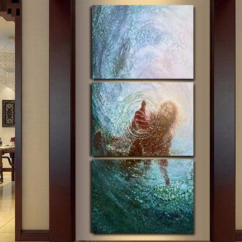 Modular Pictures HD Prints Canvas Jesus Paintings Wall Art Framework 3 Panel Landscape Poster Living Room Home Decor