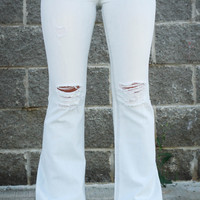 Miss Me Light Washed Flare Jeans