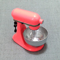 Kitchen Aid Mixer Miniature Pastel Orange Kitchenware Supplies Small Bakery Cooking Dollhouse Food Display Hand Made Resin Decoration 1/12