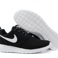 Nike Roshe Run Womens Black White Mesh shoes [#N4756] - $22.86 : Authentic Nike Shoes For Sale, Buy Womens Nike Running Shoes 2014 Big Discount 62% Off