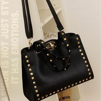 Women's Fashion Rivet Handbag