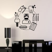 Vinyl Wall Decal Dental Care Dentist Teeth Сlinic Tools Stickers Mural Unique Gift (ig5072)