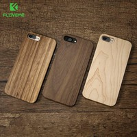 FLOVEME Wood Cover For iPhone 7 iPhone 7 Plus Case 5S SE 5 Natural Bamboo Wooden Phone Cases For iPhone 6 6S Plus 6 Plus Fundas