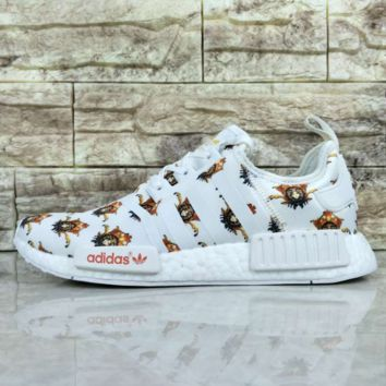 Versace x Givenchy x Adidas NMD R1 Boost Fashion Casual Trending Running Sneakers Shoes G