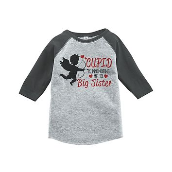 Custom Party Shop Girl's Big Sister To Be Valentine's T-shirt