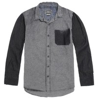 Modern Amusement Lumber Pocket Long Sleeve Woven Shirt - Mens Shirt - Gray