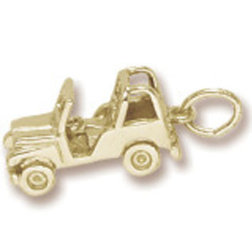 Jeep Charm In Yellow Gold