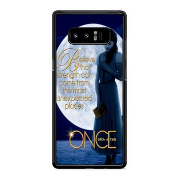 Once Upon A Time Belle Full Moon Samsung Galaxy Note 8 Case
