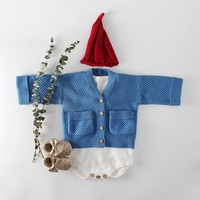 MILANCEL Baby Girls Winter Clothes Knitted Baby Cardigan Pocket Style Baby Boys Sweaters Cardigan Baby Clothing