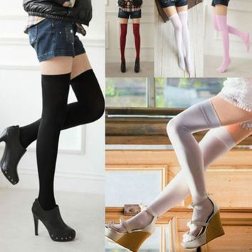 Thigh High Stockings, Nylon Thigh High Socks, Long Stockings, High Socks