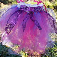 Pink and Purple Tutu, Baby or Toddler Tutu, Birthday Tutu, Valentines Day Tutu, Pretend Play Tutu, Pageant Tutu, Easter Tutu