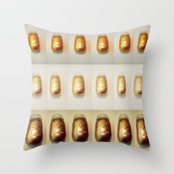 Mason Jar Pillows Gold Mason Jars Pillows Digital Print Artistic Decorative Pillows Faux Down Insert Pillow Mason Jar Photography Pattern