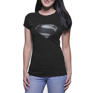 Man of Steel  Womans and Mens T-shirt Black