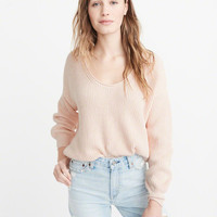 Womens Puff Sleeve V-Neck Sweater | Womens New Arrivals | Abercrombie.com