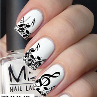 Messy notes Nail Decal
