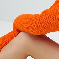 Boohoo Knitted Crew Neck Sweater at asos.com
