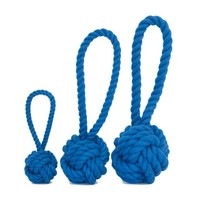 Harry Barker Large Dk Blue Cotton Rope Tug & Toss Toy, Dog Chew Toy, Dog Tug Toy | Toad Hollow