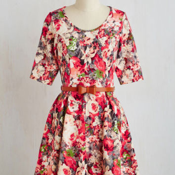 Abiding Beauty Dress in Pink Floral | Mod Retro Vintage Dresses | ModCloth.com