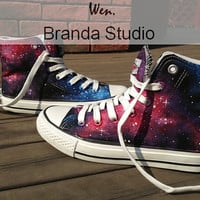 2013,Galaxy Shoes,Studio High Top Hand Painted Shoes 49.99Usd,Paint On Custom Converse Shoes Only 89Usd,Buy One Get One Phone Case Free