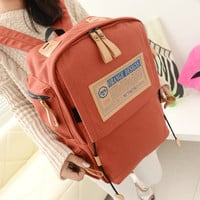 Hot Deal Comfort College On Sale Casual Stylish Back To School Korean Vintage Canvas Travel Backpack [6582345287]