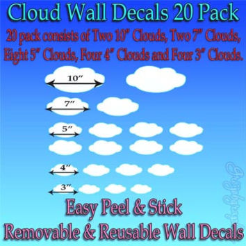 Clouds Wall Decals Nursery Wall Decals Babies Stickers Fun Kids Room Decor CL1