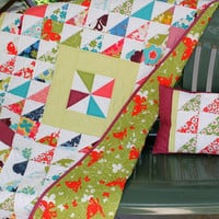 Quilted Baby Blanket - Crib Quilt - matching Pillow Cover