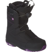 Salomon Snowboards Ivy Boa Str8jkt Snowboard Boot - Women's Black/Grape Juice/Cool Gray,