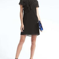 Cascade Ruffle Shift Dress | Banana Republic