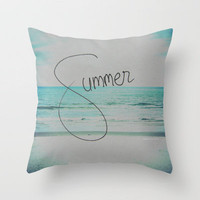 forever summer Throw Pillow by Starr Shaver | Society6