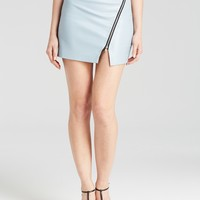 Olivaceous Skirt - Bloomingdale's Exclusive Faux Leather Asymmetric Zip