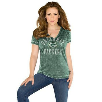 Green Bay Packers Women's Fire Drill T-Shirt -Touch by Alyssa Milano