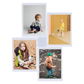 TTLIFE High Quality 4Pcs Creative 8x10 photo Frame Family Photo Picture Frame Rahmen White Base Art Home Wall Decoration