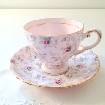 English Fine Bone China Tuscan Teacup and Saucer Tea Party