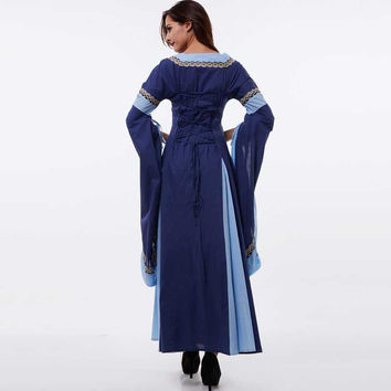 Light Blue Vintage Style Gothic Dress