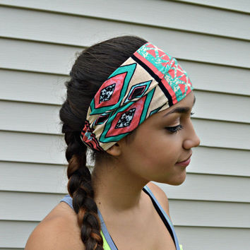 Mint Tribal fitness headband,  Workout head band