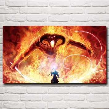 Full square Drill 5D DIY Diamond Painting Gandalf The Lord of the Rings Balrog Fantasy 5D Diamond Embroidery Cross Stitch Mosaic