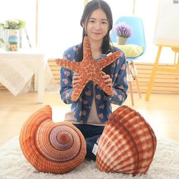 Sea Stuffed Plush Animals Cute Pluche Stuffe Speelgoed Pillow Happy Plush Gift Starfish Stuffed Animal Dolls Kids 70C0475