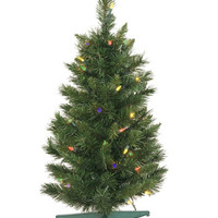 2' Pre-lit Imperial Pine Artificial Christmas Tree - Multi Lights