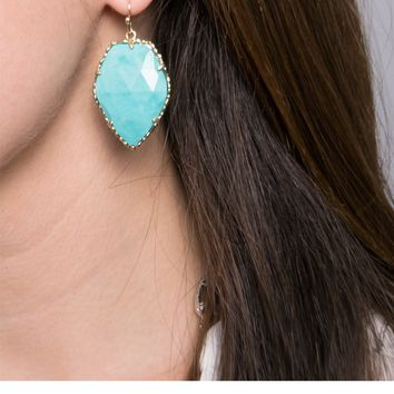 Corley Drop Earrings in Turquoise - Kendra Scott Jewelry