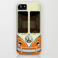 Summer Holiday orange kombi camper VW Volkswagen minivan minibus apple iPhone 4 4s, 5 5s 5c, 6, iPod & samsung galaxy s4 case