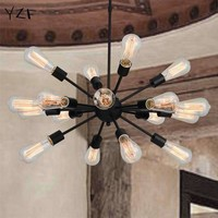 New Modern Nordic Retro Edison Bulb Light Chandelier Vintage Loft Antique E27 PendantLight Ceiling Lamp chandelier lighting