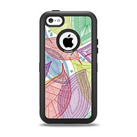 The Seamless Color Leaves Apple iPhone 5c Otterbox Defender Case Skin Set