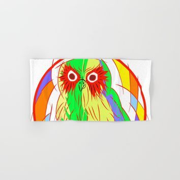 Owl Hand & Bath Towel by Mrnobody