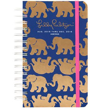 Lilly Pulitzer Medium Agenda 2015-2016 - Tusk in Sun Navy