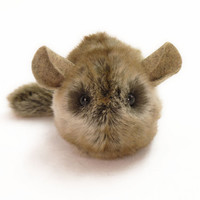 Brown Golden Chinchilla Stuffed Animal Toy Plushie - 4x5 Inches Small Size