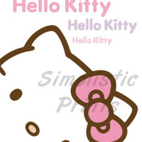 Hello Kitty 8x10 Wall Print