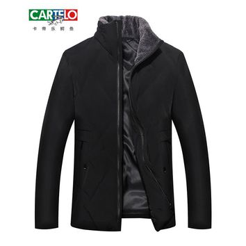 CARTELO Winter new men's business fashion Men 90% white Duck Down Jackets Fur collar Jacket Men Casual clothing male FB09139G03