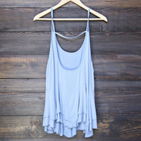 uneven hem acid wash open back women's tank (more colors)