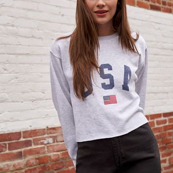 John Galt USA Cropped Sweatshirt at PacSun.com