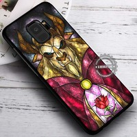 Ugly Side Stained Glass Beauty and The Beast iPhone X 8 7 Plus 6s Cases Samsung Galaxy S9 S8 Plus S7 edge NOTE 8 Covers #SamsungS9 #iphoneX